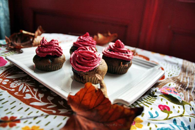 Cupcakes à la betterave et aux cranberries