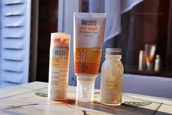 3 crèmes solaires véganes et naturelles