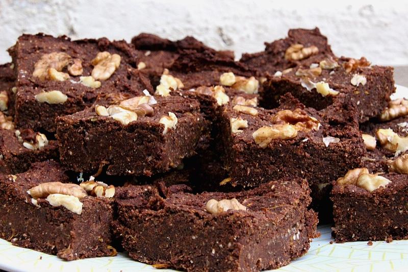 Brownies à la courgette végétaliens et IG bas