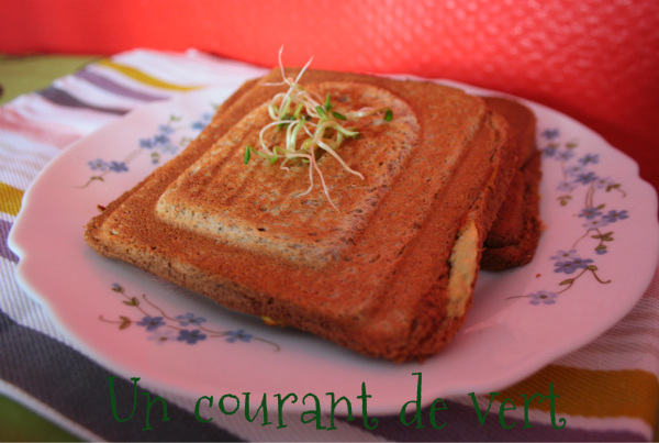 Croque-monsieur végane