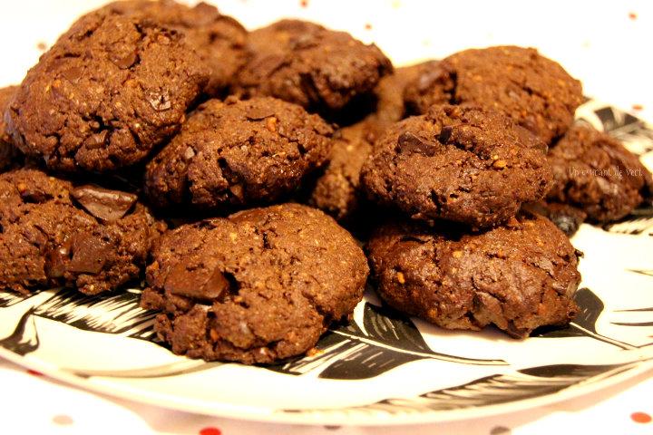 Cookies véganes tout chocolat