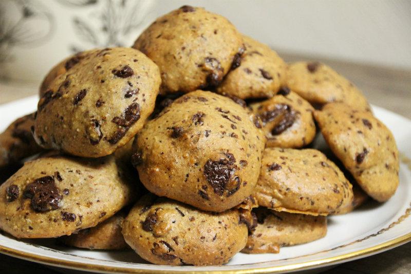Cookies végétaliens au chocolat et sel rose