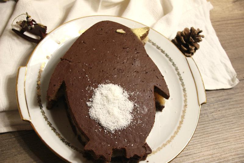 Layer cake de Noël végétalien chocolat et coco